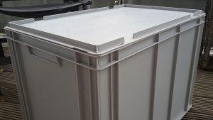 Eurobehälter - sehr stabil und lichtdicht, Größe 60 (B) x 40 (L) x 42 (H) cm