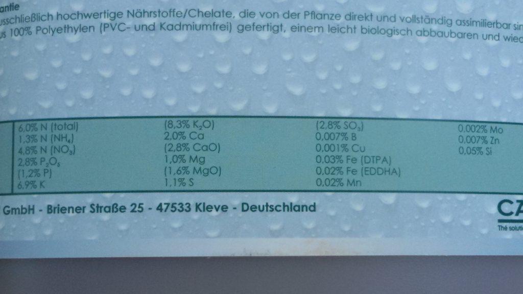 Nährstoffe in der Hydroponik - genau das, was die Pflanzen brauchen: Chemische Elemente und Verbindungen